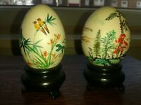 vintage hand painted japanese eggs collectables