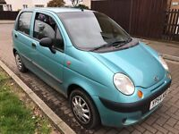 Daewoo Matiz Xtra 995cc Petrol 5 speed manual 5 door hatchback 54 Plate 25/10/2004 Blue