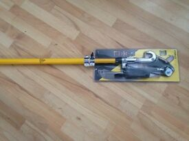 BRAND NEW STANLEY Telescopic Fiberglass Pole Pruner + Tree Saw Blade cutter