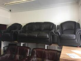 Exgillies quality secondhand leather suites