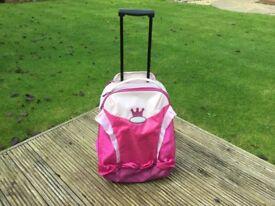 Children's SAMSONITE Sammies Pink Princess SUITCASE- VGC