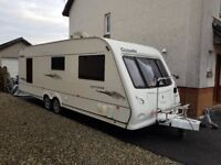 Elddis Crusader Cyclone, Fixed Island Bed, Full Size Fridge Freezer, Two Awnings, Motor Mover