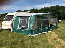 Bailey Senator Carolina 05 Twin Axel 6 Berth Caravan + Full Isabella + Porch Awning