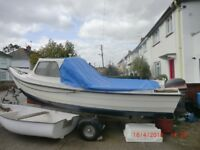 Well maintained very seaworthy Orkney Strikeliner and 20hp Mariner engine