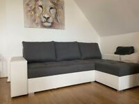 Brand new corner sofa bed with 2 storages and sleeping function