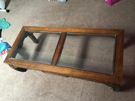 Wooden glass Coffee table