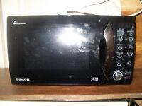 Microwave Daewoo black 800 w