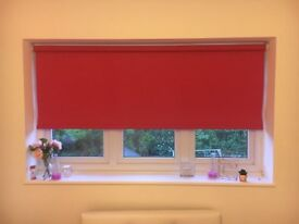 Bright Pink Blackout Roller Blind in VGC Measures 154cm Height x 172cm Width
