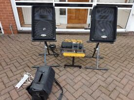 Gemini Amplifier, Speakers and Wireless Microphone PA System