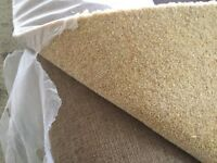Carpet :30 foot by 5 meters 50oz Pinnacle 80/20 wool twist still on roll . Colour butterscotch