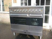 Britannia electric cooker range ceramic hob.