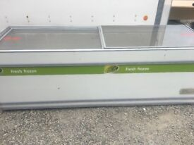 8ft glass top chest freezer