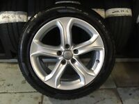 ALLOYS X 4 OF 17 INCH GENUINE AUDI A5 5/SPOKE RONAL IN UNMARKED CONDITION WITH EXCELLENT TYRES FITED