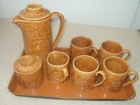 Iconic 1960's Coffee set Unused Original packaging 4 mugs, coffee pot, milk jug, sugar bowl & lid.