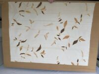 Beige and Brown Roman Blind 57x43 inches