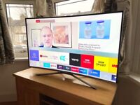 """SAMSUNG CURVED 43"""" 4K ULTRA HD SMART LED TV,FULL WORKING ORDER £270 NO OFFERS CAN DELIVER"""