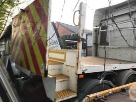 Ford transit body off 2014 flat bed with steps