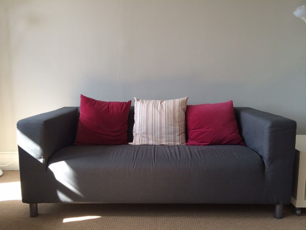 Ikea klippan sofa with klippan cover and cushions in battersea london gumtree - Klippan sofa ikea ...