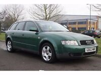2002 Audi A4 AVANT 2.5 TDI SE 5dr (CVT), AUTOMATIC, WARRANTY, LEATHER INTERIOR, 3 OWNER, PX WELCOME
