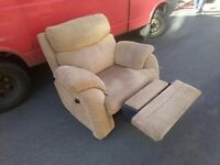 Big reclining Barker and Stonehouse armchair. Very plush and comfy. Free delivery