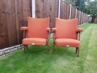 Cast iron cinema chairs, retro