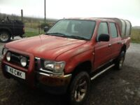 TOYOTA HILUX 2.4 DIESEL . GOOD STRONG DRIVING TRUCK. IDEAL EXPORT OR UK USE