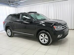 2018 Volkswagen Atlas 4MOTION AWD SUV 7PASS w/ ROOF RAILS, HEATE
