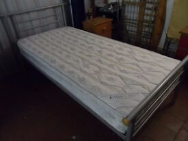 SINGLE METAL BED with TRUNDLE UNDERBED