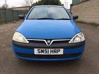 Vauxhall Corsa 1.2 i 16v Club 5dr (2 KEYS) (Blue) 2001