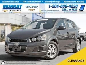 2016 Chevrolet Sonic LT Auto *Heated Seats, Satellite Radio, OnS