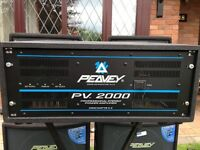 Peavey PV2000 professional power amplifier 1000 watts x 2