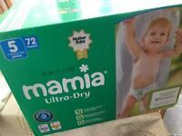 Size 5 Mamia nappies cost £7 ALDI