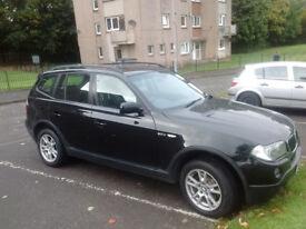 Fabulous 08plate Black BMW X3 4x4 xDrive
