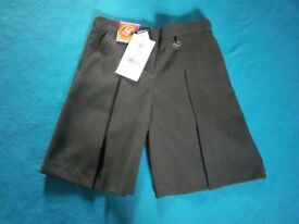New Girls Grey School Culotte Shorts Age 9 Years IP1