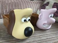 Wallace and Gromit egg cup and toast holders
