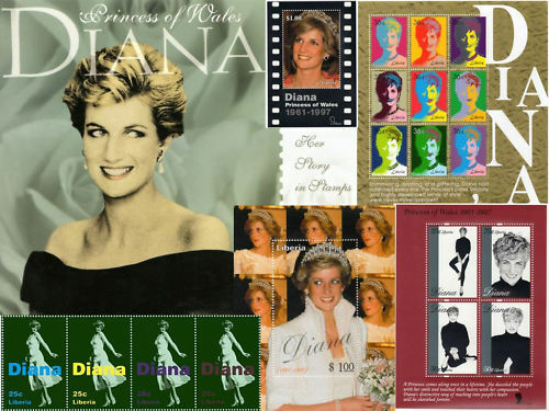 PRINCESS+OF+WALES+DIANA+COLLECTION%3A+Her+Story+in+Stamps