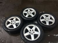 PEUGOET 407, 2006 SET OF ALLOY WHEELS AND TYRES, 5 STUD, FOR SALE
