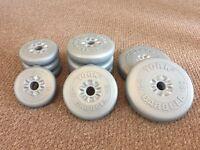 York weights - 4.5kg, 2.3kg 1.1kg