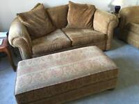 2 x Two Seater sofa's with foot stall from Furniture Village