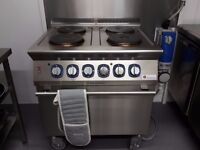 Electrolux electric commmercial oven and 4 ring electric hob.