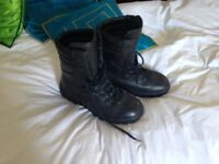 Men's Black Combat Style Safety Boot size 11 worn once.