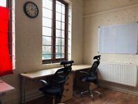 Desk spaces in a film/tv studio in Seven Sisters