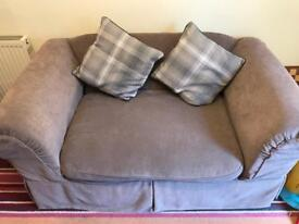 2 seater fabric couch with removable covers