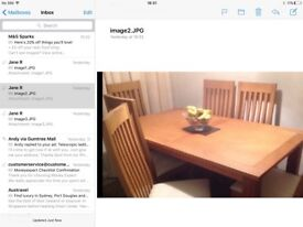 Extending dining table with 6 chairs purchased from Next very good condition