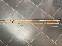 10 ft Dawsons of Bromley Split Cane 'Dal Monte' Antique fishing rod