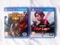 Infamous Second Son + Infamous First Light - Playstation 4 Game Bundle - Great PS4 Games - Like New