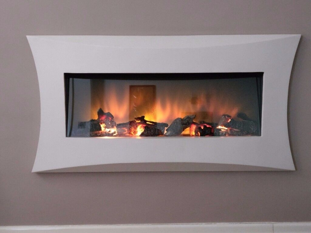Electric Fire, Hole in the wall realistic log fire, Remote controlled