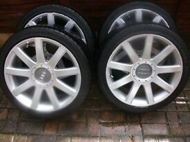 "4x18"" Audi TT alloys wheels 5x112 pcd"