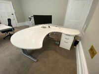 Large White Office Desks