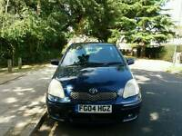 TOYOTA YARIS TSPRIT 2004 2LADY OWNER 13SERVICE MOT TILL26/8/2018 WARRANTED MILE EXCELLENT CONDITION